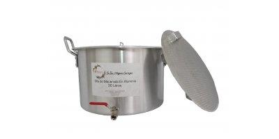 Olla Maceradora en Aluminio 30 litros